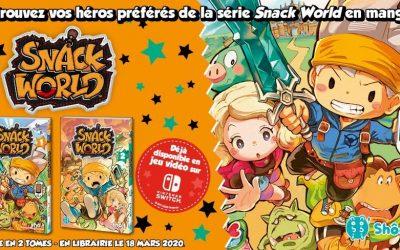 Snack World après le jeu vidéo en fevrier, le manga débarque en mars !