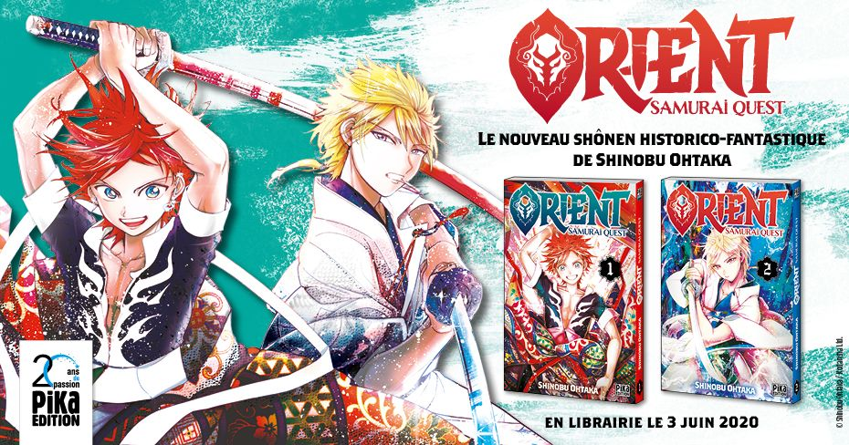 Orient, le nouveau manga de Shinobu Ohtaka arrivera au mois de juin !