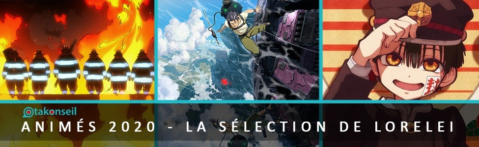Top 5 Animes 2020 : la sélection de Lorelei !